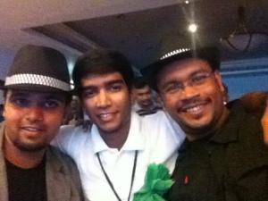 With Vidiya and Sandeep @ Fun Night!!