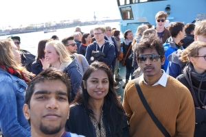 A ferry ride over river Elbe